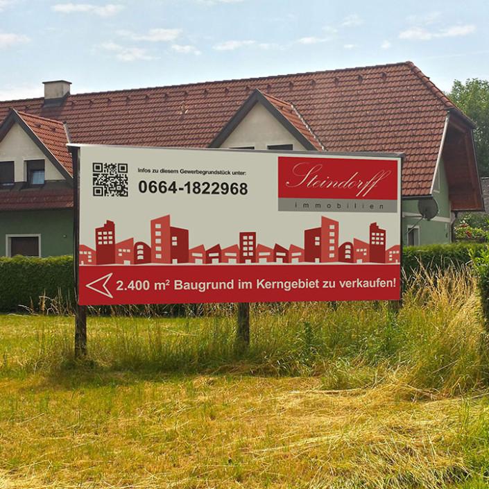 Plakat für Steindorff Immobilien