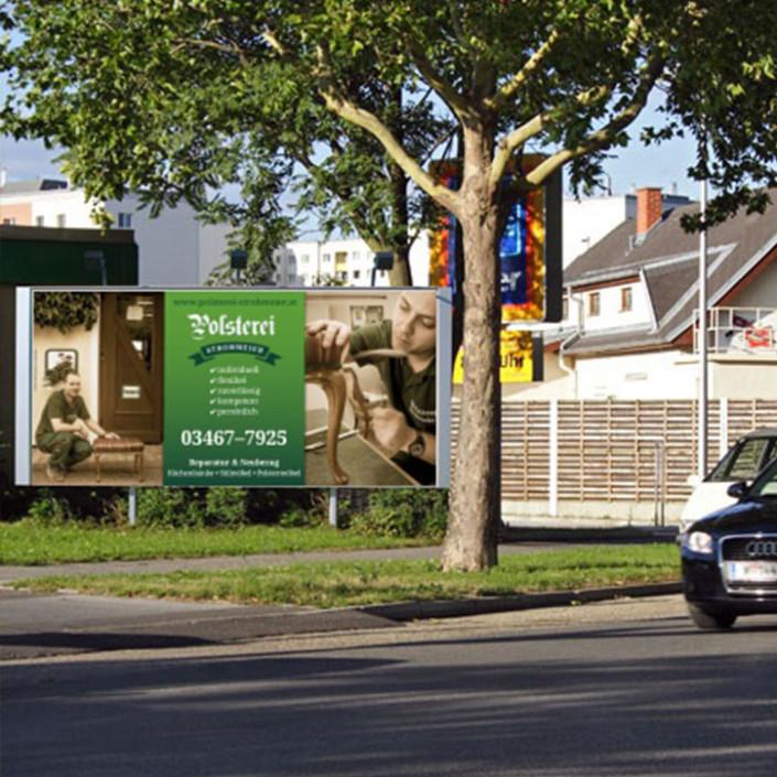Plakat für Polsterei Strohmeier