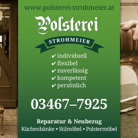 Plakat-Werbung für die Polsterei Strohmeier